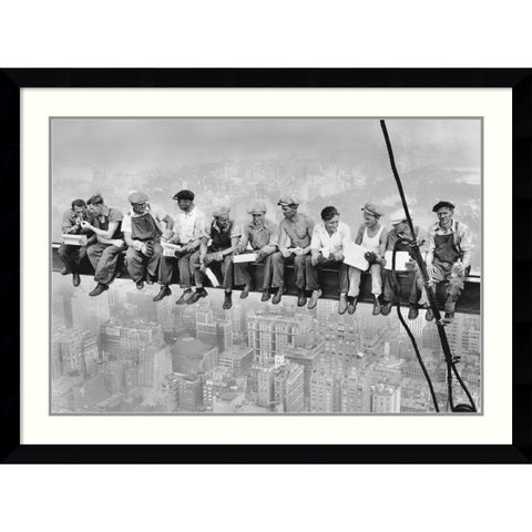 Framed Art Print 'Lunch on a Skyscraper, 1932' by Charles C. Ebbets 43 x 32-inch