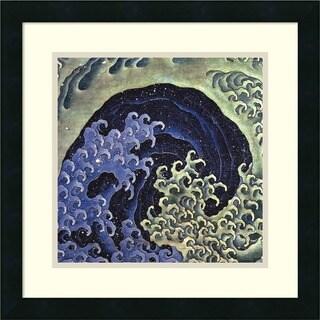 Framed Art Print 'Feminine Wave' by Katsushika Hokusai 18 x 18-inch