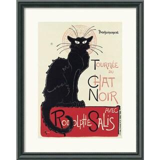 Framed Art Print 'Tournee du Chat Noir (White)' by Theophile Alexandre Steinlen 17 x 21-inch