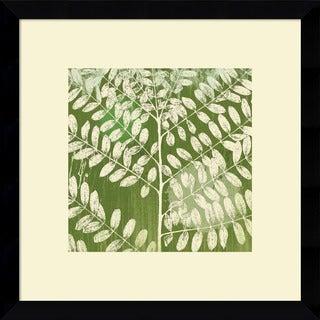 Framed Art Print 'Forest Leaves' by Erin Clark 13 x 13-inch