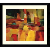 Framed Art Print 'Harmonious Space' by Nancy Ortenstone 32 x 29-inch