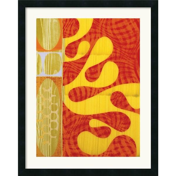 Rex Ray 'Lava' Framed Art Print