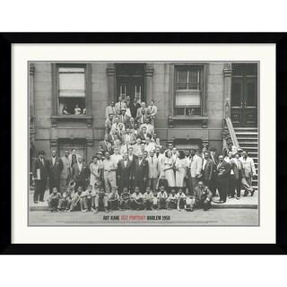 Framed Art Print 'Jazz Portrait- Harlem, 1958' by Art Kane 41 x 33-inch