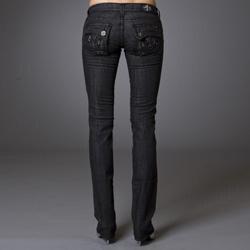 Women's 'Balboa Beach' Black Straight Leg Jeans - Thumbnail 1