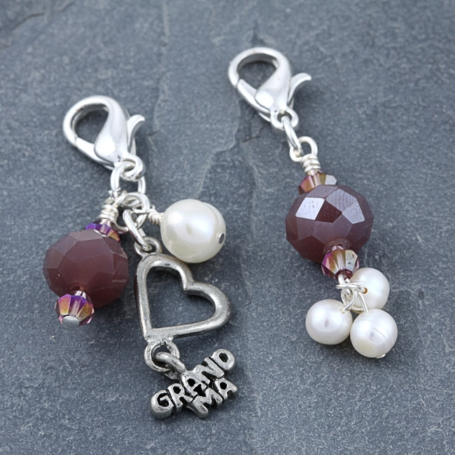 Fashion Forward Silverplated Grandma Charms (4-9 mm) (Set of 2)