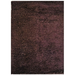 Handmade Brown Shag Wool Rug (8' x 10')