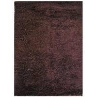 Handmade Brown Shag Wool Rug - 8' x 10'
