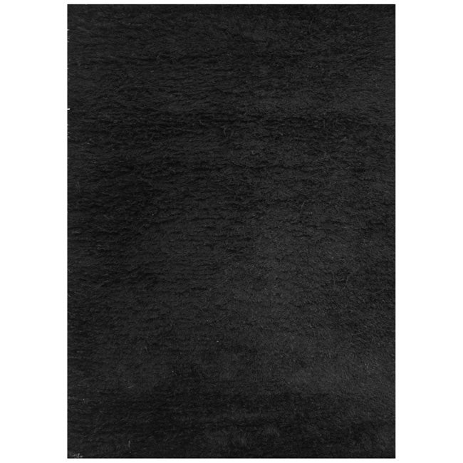 Black rug texture Polypropylene Plastic Shop Handmade Black Shag Wool Rug Free Shipping Today Overstockcom 5562654 Overstock Shop Handmade Black Shag Wool Rug Free Shipping Today Overstock