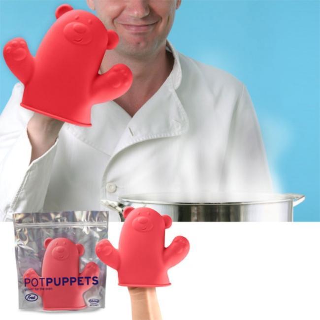 Bear Puppet Pot Grabber Oven Mitt