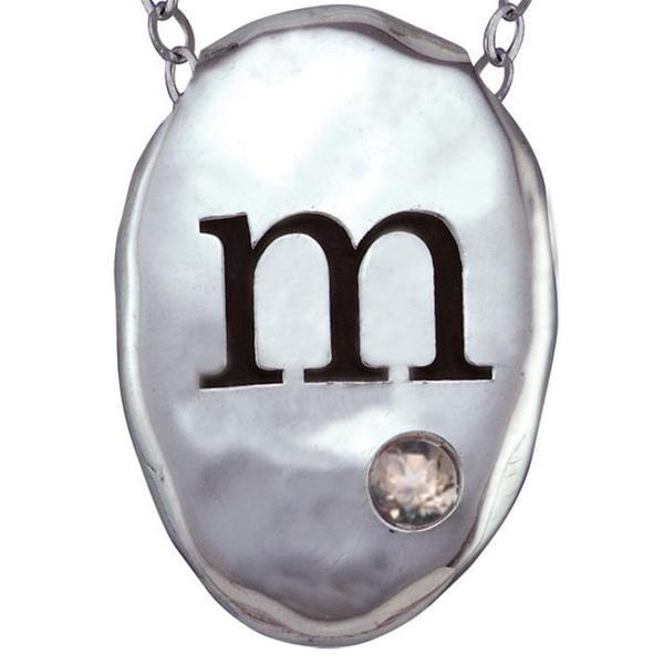 Chroma Silver Created Alexandrite June Birthstone Initial Necklace Made with SWAROVSKI GEMS