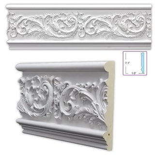 Leafy Scroll 7.125-inch Frieze/ Chair Rail (8 pieces)