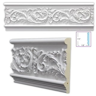 Leafy Scroll 7.125-inch Frieze/ Chair Rail (8 pack)