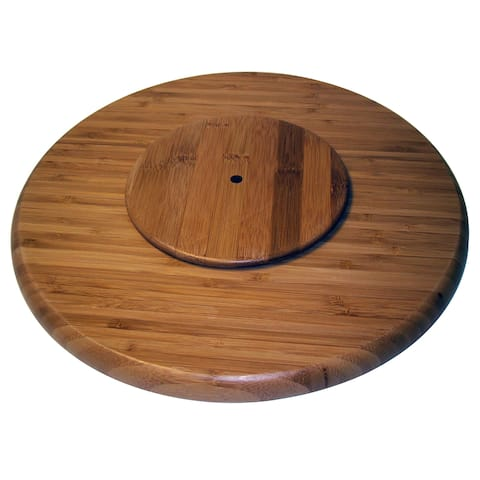 "Le Chef Bamboo 14-inch Lazy Susan Organizer - 14""d"