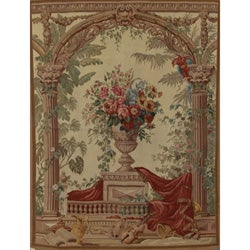Hand-woven Aubusson Weave Wool Tapestry