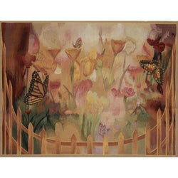 Hand-Woven Aubusson-Weave New Zealand Wool Tapestry
