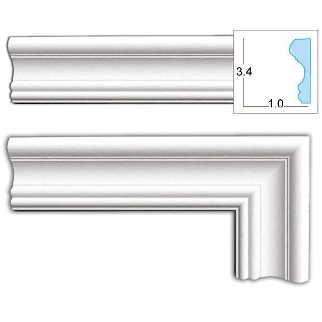 Decorative 3 4 inch door casing pack of 8 free for 1 x 4 window casing