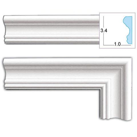 Decorative 3.4-inch Door Casing (8 pieces)