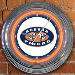 Auburn Tigers 15-inch Neon Clock - Thumbnail 0