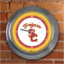 USC Trojans 15-inch Neon Clock - Thumbnail 2