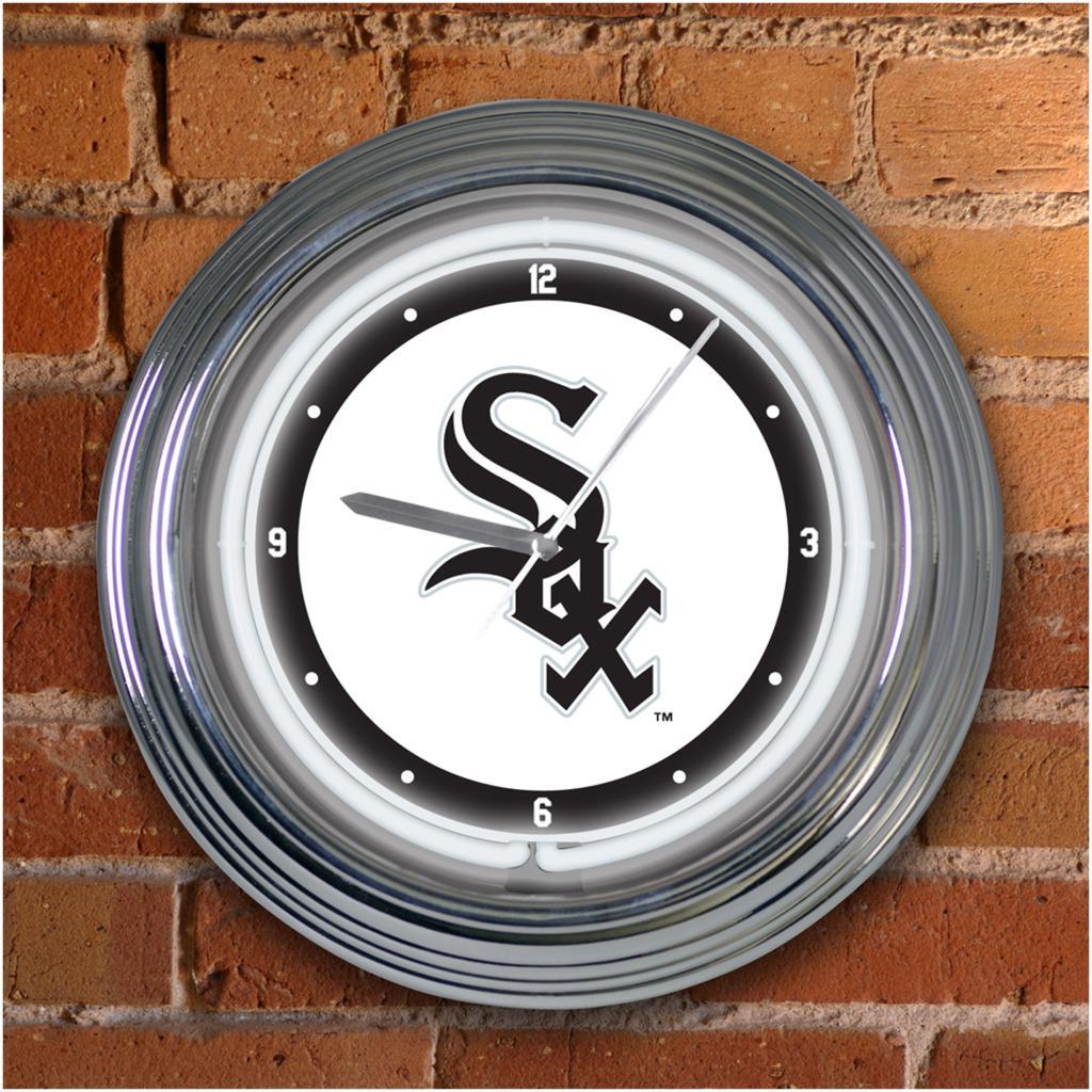 Chicago White Sox 15-inch Neon Clock