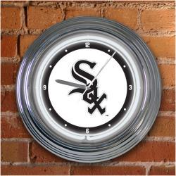 Chicago White Sox 15-inch Neon Clock - Thumbnail 1