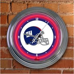 New York Giants 15-inch Neon Clock - Thumbnail 1
