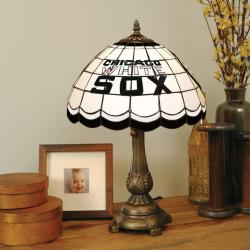 Tiffany-style Chicago White Sox Lamp