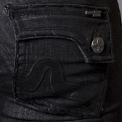 Women's 'Sunset Beach' Black Straight Leg Jeans