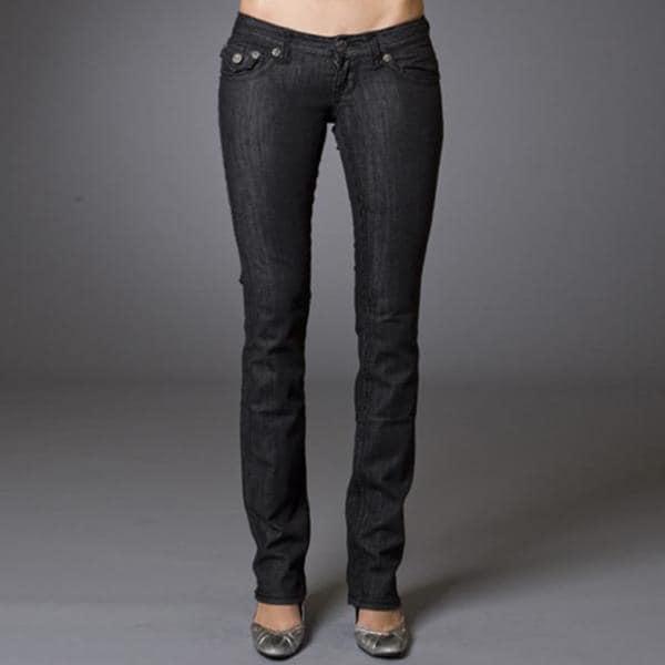 Women's 'The Wedge' Black Straight Leg Jeans