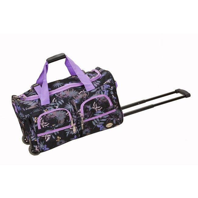 Rockland Deluxe 22-inch Garden Carry On Rolling Duffel Bag