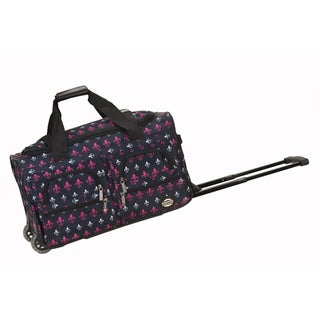 Rockland Deluxe 22-inch Fleur de Lis Carry On Rolling Upright Duffel Bag
