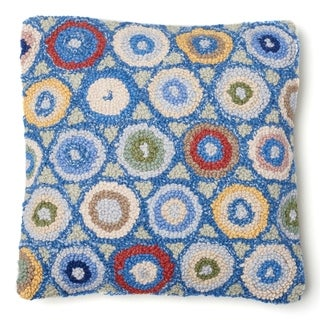 Link to Blue Coin Hooked Wool Pillow Similar Items in Decorative Accessories
