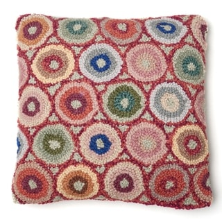 Link to Red Coin Hooked Wool Pillow Similar Items in Decorative Accessories