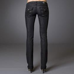 Women's 'Newport Beach' Black Straight Leg Jeans - Thumbnail 1