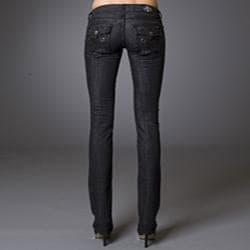 Women's 'Newport Beach' Black Straight Leg Jeans