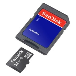 SanDisk 32G Micro SDHC2 MicroSD High Capacity Card with Adapter (Class 4)