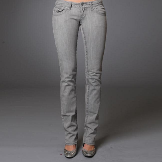 Women's 'Bolsa Chica' Grey Straight Leg Jeans - Free Shipping ...