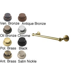 Waverly Place 24-inch Solid Brass Towel Bars (Pack of 6)