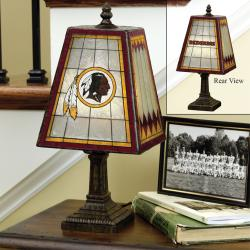 Washington Redskins 14-inch Art Glass Lamp - Thumbnail 1