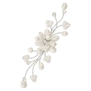 Handmade Stainless Steel 'Bouquet' Freshwater Pearl Brooch (8 mm) (Thailand)