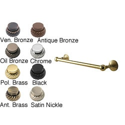 Waverly Place 30-inch Solid Brass Towel Bars (Pack of 6)