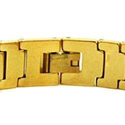 Men's Tungsten Carbide Gold-plated Snake-link Bracelet (12 mm)
