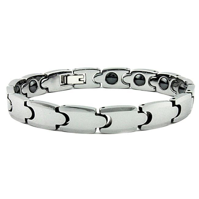 Men X27 S Tungsten Carbide Germanium Magnetic Link Bracelet