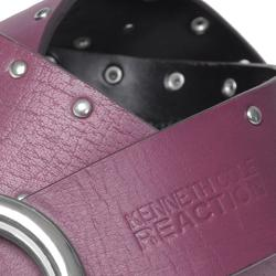 Kenneth Cole Reaction Women's Genuine Leather Studded Belt - Thumbnail 2