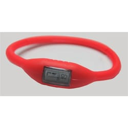 TRU - Red Silicone-band Shock- and Water-resistant Sports Watch