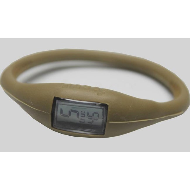 TRU: Metallic Gold Silicone Band Sports Watch - Thumbnail 0