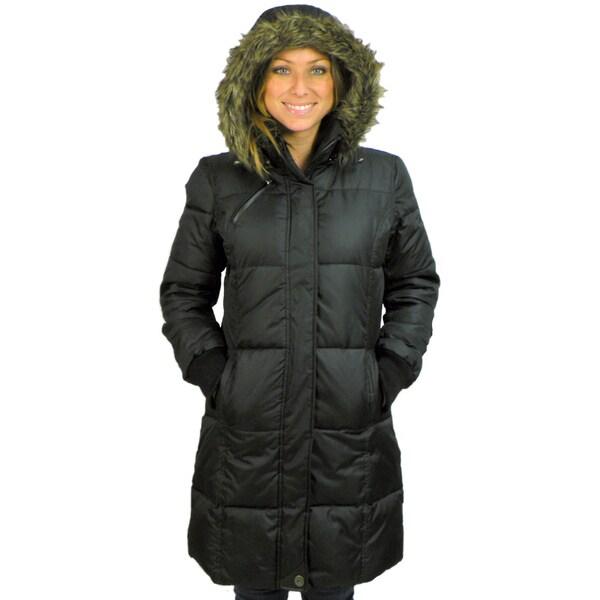 Balimel Women's Faux Fur Hooded Down Coat