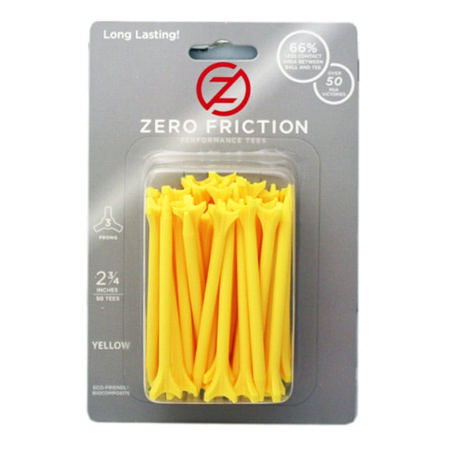 Zero Friction Yellow 2.75-inch Performance Golf Tees (Pack of 300)