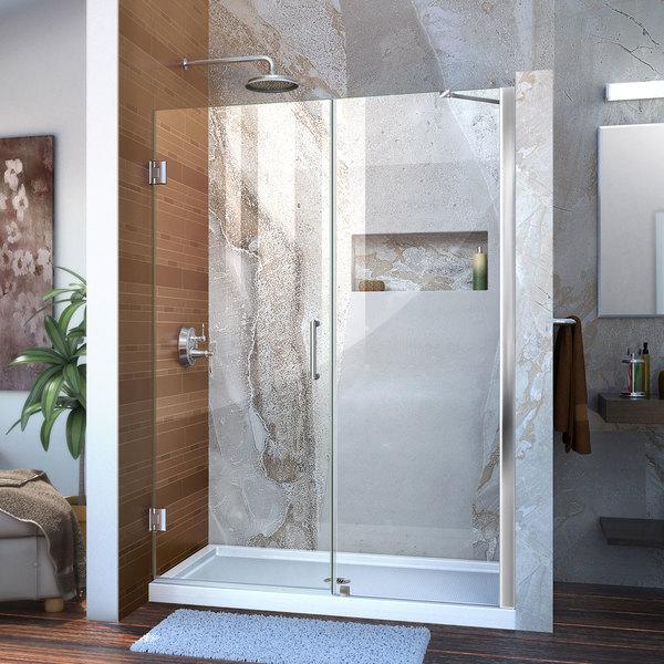 Shop Dreamline Unidoor 51 55x72 Inch Frameless Hinged Shower Door