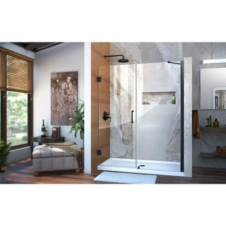 DreamLine Unidoor 57-58 in. W x 72 in. H Hinged Shower Door with Support Arm - 57 - 58 W (Satin - 50-59 Inches - 60 in. w x 72 in. h)